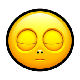 256x256px size png icon of Smiley sleep