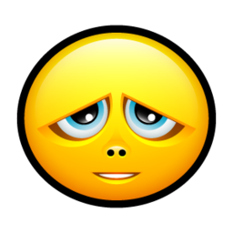 256x256px size png icon of Smiley sorry