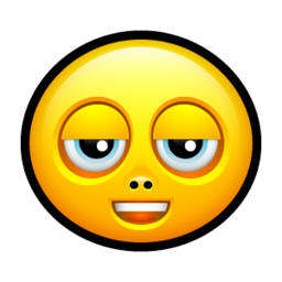 256x256px size png icon of Smiley stoned