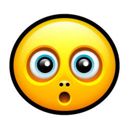 256x256px size png icon of Smiley surprised