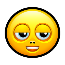 256x256px size png icon of Smiley untroubled