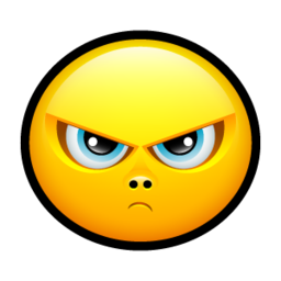 256x256px size png icon of Smiley upset 3