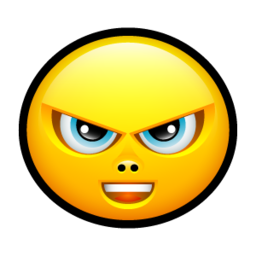 256x256px size png icon of Smiley upset 4