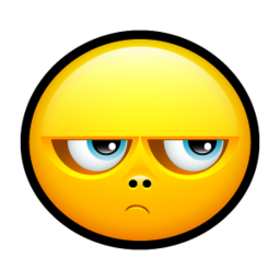 256x256px size png icon of Smiley upset