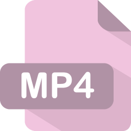 256x256px size png icon of mp4