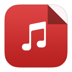 256x256px size png icon of mp3