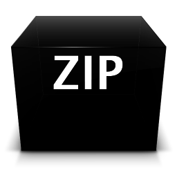 256x256px size png icon of bah zip
