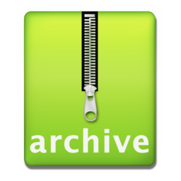 256x256px size png icon of archive