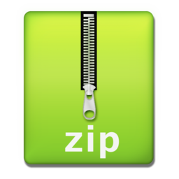 256x256px size png icon of zip