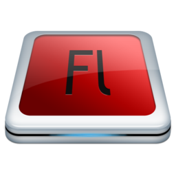 256x256px size png icon of Adobe Fl