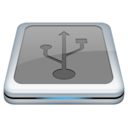 256x256px size png icon of Drive Usb 2