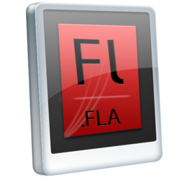 256x256px size png icon of File FLA