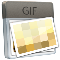 256x256px size png icon of File GIF