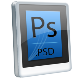 256x256px size png icon of File PSD