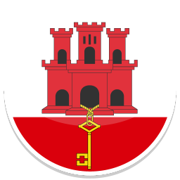 256x256px size png icon of Gibraltar