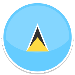 256x256px size png icon of Saint lucia
