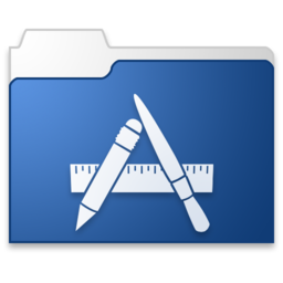 256x256px size png icon of Apps blue