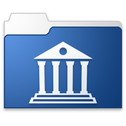 256x256px size png icon of Library blue