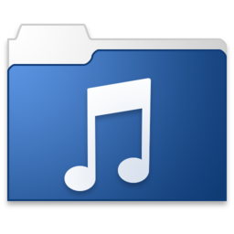 256x256px size png icon of Music blue