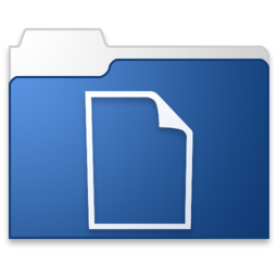 256x256px size png icon of documents blue