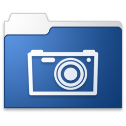 256x256px size png icon of pictures blue