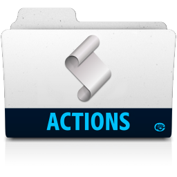 256x256px size png icon of action folder