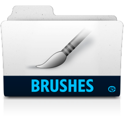 256x256px size png icon of brushes folder