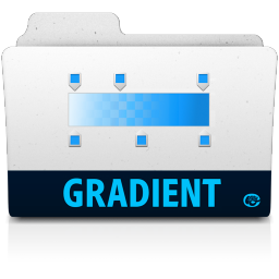 256x256px size png icon of gradient folder