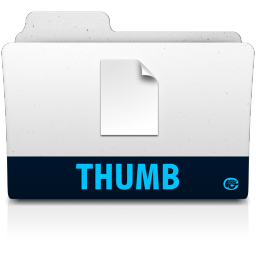 256x256px size png icon of thumb folder