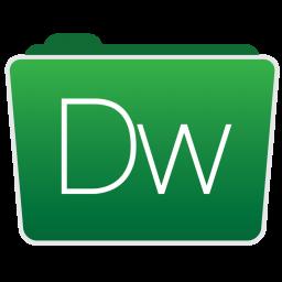 256x256px size png icon of Dreamweaver Folder