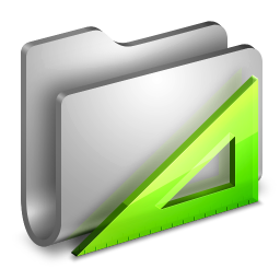 256x256px size png icon of Applications Metal Folder