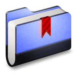 256x256px size png icon of Bookmark Blue Folder