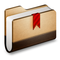 256x256px size png icon of Bookmark Brown Folder