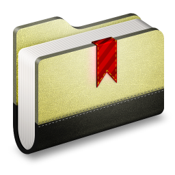 256x256px size png icon of Bookmark Folder