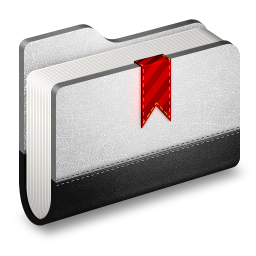 256x256px size png icon of Bookmark Metal Folder
