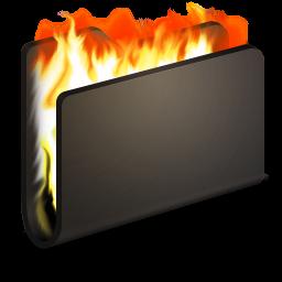 256x256px size png icon of Burn Black Folder