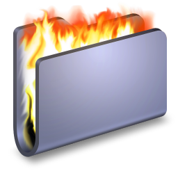 256x256px size png icon of Burn Blue Folder