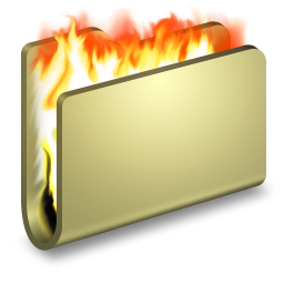 256x256px size png icon of Burn Folder