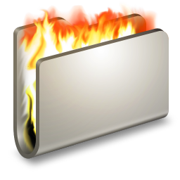 256x256px size png icon of Burn Metal Folder