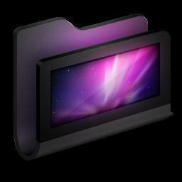 256x256px size png icon of Desktop Black Folder
