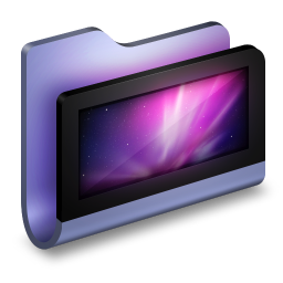 256x256px size png icon of Desktop Blue Folder
