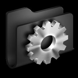 256x256px size png icon of Developer Black Folder