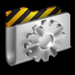 256x256px size png icon of Developer Metal 2 Folder