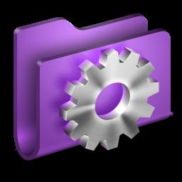 256x256px size png icon of Developer Purple Folder