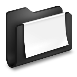 256x256px size png icon of Documents Black Folder