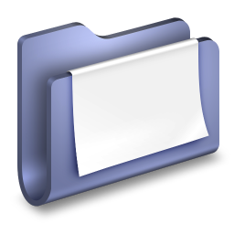 256x256px size png icon of Documents Blue Folder
