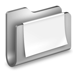 256x256px size png icon of Documents Metal Folder