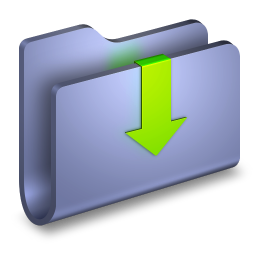 256x256px size png icon of Downloads Blue Folder
