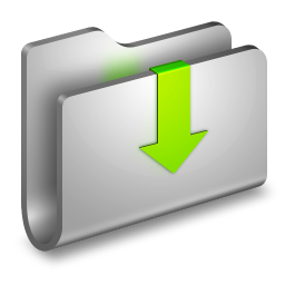 256x256px size png icon of Downloads Metal Folder