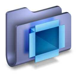 256x256px size png icon of DropBox Blue Folder